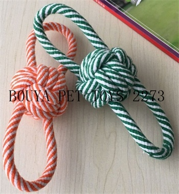 Long Lasting Cotton rope knot pet toys for chew 2273