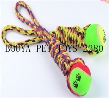 Chew Toy Tennis ball with rope toy for dog 2280