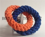 Handmade rope pet puppy dog toy rings 2267