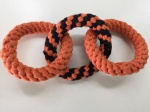 Cotton rope pet ring