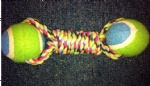 Rope with tennis ball Dog toy