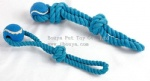 New design pet toy rope with tennis ball