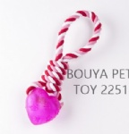 Handmade pet rope with TPR 2251