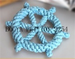 Rope toy handmade pet toy with circle 2254