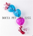 TPR pet toy with Rope toy dog and cat 2255